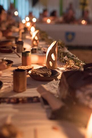 Diner spectacle par les médiévales de Machecoul 44 par Rais Créations
